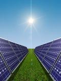 Concetto di energia solare Fotografia Stock