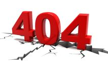 Concetto di errore della pagina Web 404 isolato su fondo bianco 3d rendono royalty illustrazione gratis