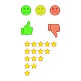 Concetto di esperienza utente o di feedback dei clienti Fotografia Stock Libera da Diritti