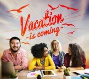 Concetto di estate di vacanza di festa della spiaggia di estate Fotografia Stock