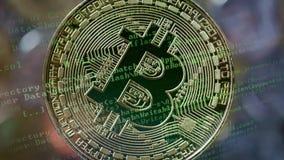 Concetto di estrazione mineraria di Cryptocurrency video d archivio