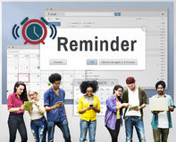 Concetto di evento del calendario del pianificatore di ricordo Immagine Stock