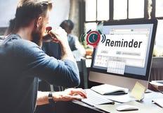 Concetto di evento del calendario del pianificatore di ricordo Immagini Stock