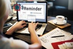Concetto di evento del calendario del pianificatore di ricordo Fotografia Stock