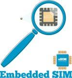 Concetto di evoluzione della carta SIM nello stile piano Fotografia Stock