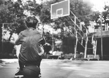Concetto di Exercise Sport Stadium dell'atleta del giocatore di pallacanestro Immagini Stock