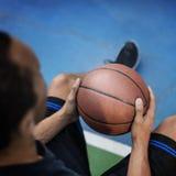 Concetto di Exercise Sport Stadium dell'atleta del giocatore di pallacanestro Fotografie Stock Libere da Diritti