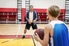 Concetto di Exercise Sport Stadium dell'atleta del giocatore di pallacanestro Fotografia Stock Libera da Diritti