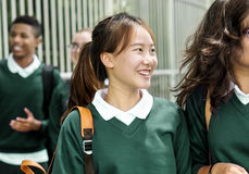 Concetto di felicità degli amici degli studenti di diversità Immagine Stock Libera da Diritti