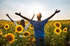 Concetto di felicità e di pace Fotografie Stock Libere da Diritti