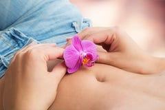 Concetto di fertilità e di intimità fotografia stock