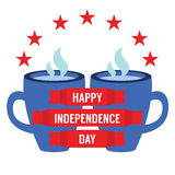 Concetto di festa dell'indipendenza Immagine Stock Libera da Diritti