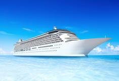 Concetto di festa dell'oceano di vacanza di viaggio della nave da crociera Immagine Stock Libera da Diritti
