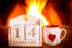 Concetto di festa di giorno di biglietti di S. Valentino Immagini Stock