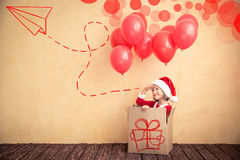 Concetto di festa di Natale Fotografia Stock