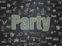 Concetto di festa: Partito sul fondo del consiglio scolastico royalty illustrazione gratis