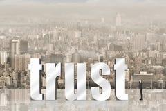 Concetto di fiducia Fotografia Stock Libera da Diritti