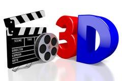 concetto di film 3D Immagine Stock Libera da Diritti