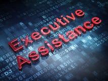 Concetto di finanza: Assistenza esecutiva rossa su fondo digitale Fotografie Stock