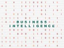 Concetto di finanza: Business intelligence sulla parete Fotografia Stock