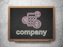 Concetto di finanza: Calculator e Company sopra royalty illustrazione gratis