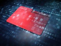 Concetto di finanza: Cartella rossa su fondo digitale Fotografie Stock