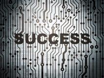 Concetto di finanza: circuito con successo Fotografia Stock Libera da Diritti