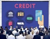 Concetto di finanza del flusso di cassa del punteggio di credito fotografie stock libere da diritti