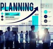 Concetto di finanza di affari di analisi di strategia di pianificazione Immagini Stock