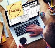 Concetto di finanza di debito di credito di contabilità di contabilità di verifica fotografia stock libera da diritti