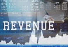 Concetto di finanza di economia di valuta del bilancio del reddito Immagine Stock