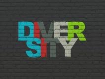 Concetto di finanza: Diversità sul fondo della parete fotografia stock