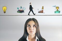 Concetto di finanza e di occupazione fotografia stock