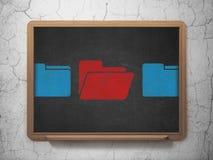 Concetto di finanza: icona della cartella sul consiglio scolastico Fotografia Stock Libera da Diritti