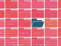 Concetto di finanza: icona della cartella sul fondo della parete Fotografia Stock Libera da Diritti