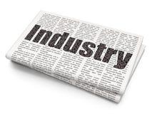 Concetto di finanza: Industria sul fondo del giornale Immagini Stock Libere da Diritti