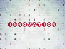 Concetto di finanza: Innovazione sulla carta di Digital Fotografia Stock Libera da Diritti