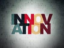 Concetto di finanza: Innovazione sulla carta di Digital Fotografie Stock Libere da Diritti