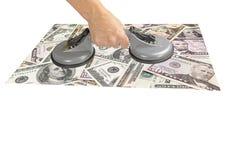 Concetto di finanza isolato Fotografia Stock