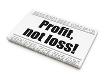 Concetto di finanza: profitto del titolo di giornale, non perdita! Fotografie Stock