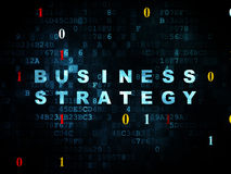 Concetto di finanza: Strategia aziendale su Digital fotografia stock libera da diritti