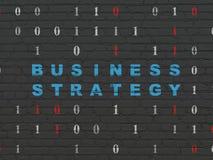 Concetto di finanza: Strategia aziendale sulla parete Fotografie Stock