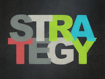 Concetto di finanza: Strategia sul consiglio scolastico Fotografia Stock Libera da Diritti