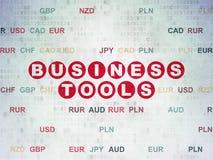 Concetto di finanza: Strumenti di affari sulla carta di Digital Fotografie Stock