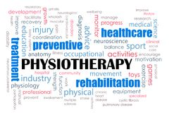 Concetto di fisioterapia Fotografie Stock Libere da Diritti