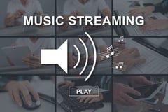 Concetto di flusso continuo di musica immagine stock