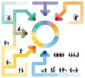 Concetto di flusso di lavoro di Infographic Fotografia Stock