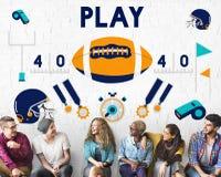 Concetto di football americano di rugby dello stratega del gioco Immagine Stock Libera da Diritti