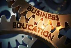 Concetto di formazione di affari Attrezzi dorati illustrazione 3D illustrazione vettoriale