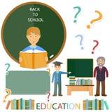 Concetto di formazione Scolaro ed insegnante Immagine Stock Libera da Diritti